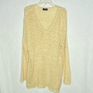 Nasty Gal V-Neck Sweater Yellow